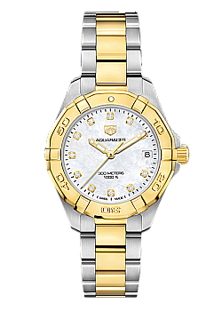 TAG Heuer Aquaracer Mother of Pearl & Gold