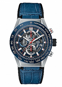 TAG Heuer Carrera 01 Blue Leather