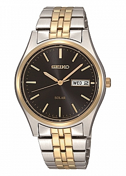 Seiko Core Solar Two-Tone Black