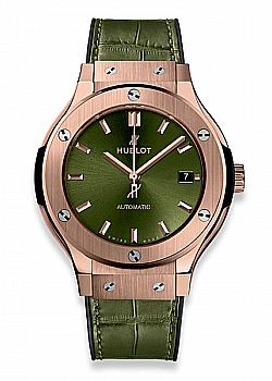 Hublot Classic Fusion Green King Gold