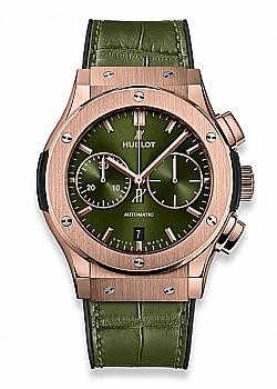 Hublot Classic Fusion Chronograph King Gold Green