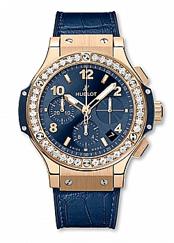 Hublot Big Bang Gold Blue Diamonds