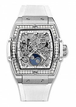 Hublot Spirit Of Big Bang Moonphase Titanium White Diamonds