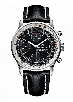 Breitling Navitimer 1 Chronograph Black Leather Tang-Type