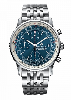 Breitling Navitimer 1 Chronograph 41 Blue Stainless Steel Folding Clasp