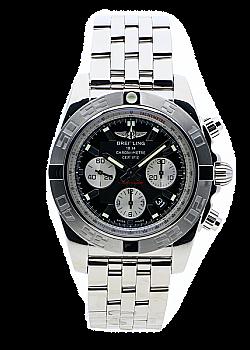 Breitling Chronomat 44 Black Stainless Steel Folding Clasp