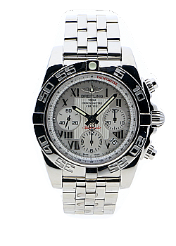Breitling Chronomat 41 Mother Of Pearl Stainless Steel Folding Clasp