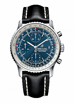 Breitling Navitimer 1 Chronograph 41 Blue Leather Tang Type