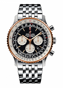 Breitling Navitimer 1 B01 Chronograph 46 Black Stainless Steel Folding Clasp
