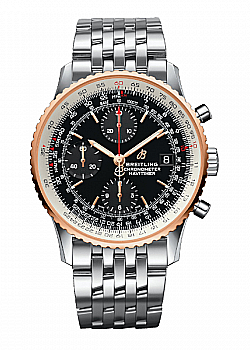 Breitling Navitimer 1 Chronograph 41 Black Stainless Steel Folding Clasp