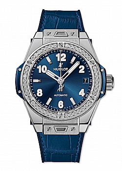 Hublot Big Bang One Click Steel Blue Diamonds