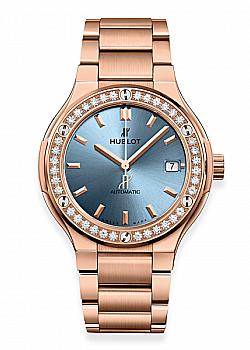 Hublot Classic Fusion King Gold Light Blue Bracelet