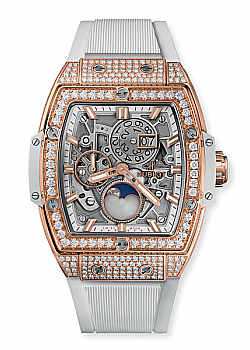 Hublot Spirit Of Big Bang Moonphase King Gold White Pave