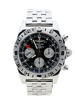 Breitling Chronomat 44 GMT R Black Stainless Steel