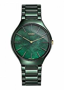 Rado True Thinline Ceramic Green Ladies