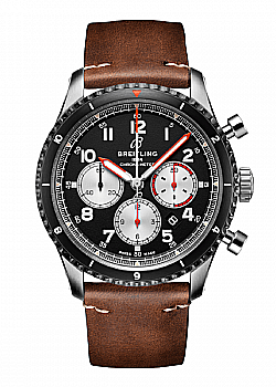 Breitling Aviator 8 B01 Chronograph 43 Mosquito Leather Gents Folding Clasp