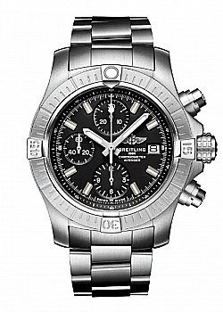 Breitling Avenger Chronograph 43 Automatic Stainless Steel Black Folding clasp