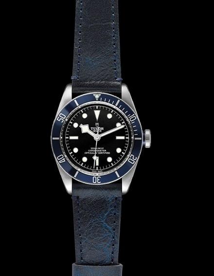 Tudor Black Bay Swiss Dive Leather Black 41mm Gents